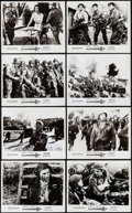 """Movie Posters:War, The Longest Day & Other Lot (20th Century Fox, 1962). Fine/VeryFine. British Front of House Photo Set of 8 (8"""" X 10""""), Germ...(Total: 11 Items)"""