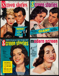"Movie Posters:Miscellaneous, Screen Stories & Other Lot (Dell Publishing, 1953-1957). Fine/Very Fine. Magazines (4) (Multiple Pages, 8.5"" X 10.75""). Misc... (Total: 4 Items)"