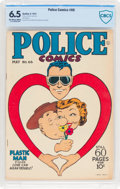 Golden Age (1938-1955):Superhero, Police Comics #66 (Quality, 1947) CBCS FN+ 6.5 Off-white to white pages....