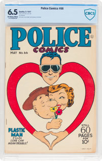 Police Comics #66 (Quality, 1947) CBCS FN+ 6.5 Off-white to white pages