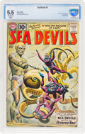 Silver Age (1956-1969):Superhero, Sea Devils #1 (DC, 1961) CBCS FN- 5.5 Off-white to white pages....