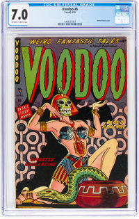Voodoo #8 (Farrell, 1953) CGC FN/VF 7.0 Off-white to white pages