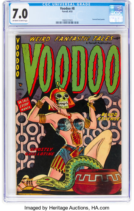 Voodoo #8 (Farrell, 1953) CGC FN/VF 7.0 Off-white to white pages....