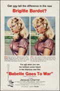 "Movie Posters:Foreign, Babette Goes to War (Columbia, 1960). Folded, Very Fine+. One Sheet (27"" X 41""). Foreign.. ..."