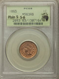 Indian Cents, 1865 1C Fancy 5 MS63 Red and Brown PCGS. Eagle Eye Photo Seal. PCGS Population: (187/451). NGC Census: (87/371). CDN: $225 ...
