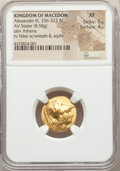 Ancients: MACEDONIAN KINGDOM. Alexander III the Great (336-323 BC). AV stater (19mm, 8.58 gm, 7h). NGC XF 5/5 - 4/5