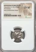 Ancients:Greek, Ancients: MACEDONIAN KINGDOM. Alexander III the Great (336-323 BC). AR drachm (18mm, 12h). NGC Choice XF....