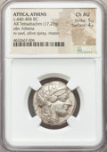 Ancients:Greek, Ancients: ATTICA. Athens. Ca. 440-404 BC. AR tetradrachm (24mm, 17.23 gm, 3h). NGC Choice AU 5/5 - 4/5....