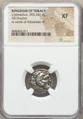 Ancients:Greek, Ancients: THRACIAN KINGDOM. Lysimachus (305-281 BC). AR drachm (17mm, 12h). NGC XF....