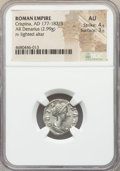Ancients:Roman Imperial, Ancients: Crispina (AD 177-182/3). AR denarius (17mm, 2.99 gm, 5h). NGC AU 4/5 - 3/5....