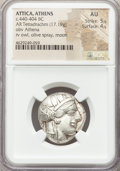Ancients: ATTICA. Athens. Ca. 440-404 BC. AR tetradrachm (24mm, 17.19 gm, 7h). NGC AU 5/5 - 4/5
