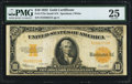 Large Size:Gold Certificates, Fr. 1173a $10 1922 Gold Certificate PMG Very Fine 25.. ...