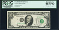 Error Notes:Shifted Third Printing, Shifted Third Printing Error Fr. 2022-D $10 1974 Federal Reserve Note. PCGS Extremely Fine 45PPQ.. ...