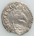 France: Aquitaine. Edward the Black Prince (1362-1372) Hardi d' Argent ND VF (light surface hairlines, edge chip)