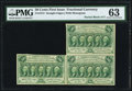 Fractional Currency:First Issue, Fr. 1312 50¢ First Issue Block of Three PMG Choice Uncirculated 63.. ...