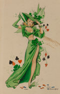 Mainstream Illustration, Joyce Ballantyne (American, 1918-2006). The True Luck of the Irish, circa 1946. Watercolor and ink on board. 11 x 7 in. ...