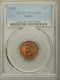 Indian Cents, 1909 1C MS64 Red and Brown PCGS. PCGS Population: (884/225). NGC Census: (532/271). MS64. Mintage 14,370,645. ...