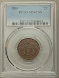 1868 2C MS62 Brown PCGS. PCGS Population: (41/151). NGC Census: (44/155). CDN: $180 Whsle. Bid for problem-free NGC/PCGS...