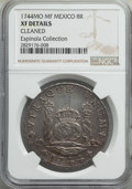 Mexico: Philip V 8 Reales 1744 Mo-MF XF Details (Cleaned) NGC