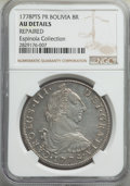 Bolivia: Charles III Pair of Certified 8 Reales NGC,... (Total: 2 coins)
