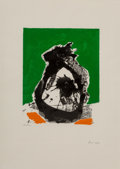 Prints & Multiples:Print, Robert Motherwell (1915-1991). Untitled, from The Basque Suite, 1971. Screenprint in colors on J.B. Green paper. 40-...