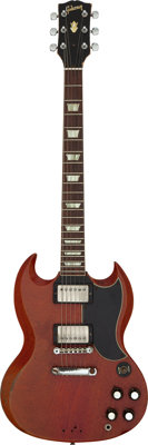 Duane Allman's Circa 1961/1962 Gibson SG, Cherry, Solid Body Electric Guitar, Serial #15263 Owned and Played by Graham N...