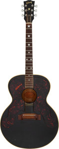 Musical Instruments:Acoustic Guitars, Don Everly of The Everly Brothers 1963 Gibson J-180 Black Acoustic Guitar, Serial #106794 Owned and Played by Graham Nash.. ...