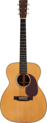 Johnny Cash's 1937 Martin 000-28 Natural Acoustic Guitar, Serial # 65756 Owned and Played by Graham Nash