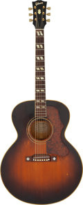 Musical Instruments:Acoustic Guitars, Buddy Holly/Everly Brothers 1951 Gibson J-185 Sunburst Acoustic Guitar, Serial # A8883 Owned and Played By Graham Nash. ...