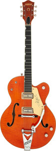 Musical Instruments:Electric Guitars, Stephen Stills 1960 Gretsch 6120 Orange Hollow-Body Electric Guitar, Serial # 35496 Owned and Played by Graham Nash.. ...