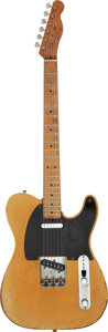 Musical Instruments:Electric Guitars, Graham Nash's 1950 Fender Broadcaster Butter Scotch Blonde Solid Body Electric Guitar, Serial # 0628.. ...