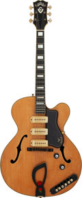 Musical Instruments:Electric Guitars, Charlie Gracie's 1961 Guild X350-B Natural Hollow Body Electric Guitar, Serial #18951 Owned and Played by Graham Nash.. ...
