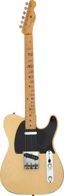 Graham Nash's 1952 Fender Black-Guard Telecaster Blonde Solid Body Electric Guitar, Serial # 4601