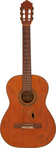 Musical Instruments:Acoustic Guitars, Willie Nelson's Acoustic Guitar Signed by Johnny Cash and Others Serial # 222N Owned and Played by Graham Nash Along With Band... (Total: 2 Items)
