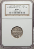 India:British India, India: British India. Madras Presidency 1/2 Rupee AH 1172 Year 6 (1763/4) MS61 NGC,...