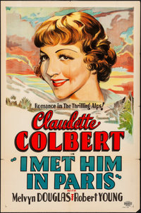 "I Met Him in Paris (Paramount, 1937). Folded, Very Fine-. Other Company One Sheet (27"" X 41""). Comedy. From th..."