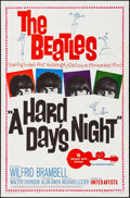 "Movie Posters:Rock and Roll, A Hard Day's Night (United Artists, 1964). Folded, Very Fine. OneSheet (27"" X 41""). Rock and Roll.. ..."