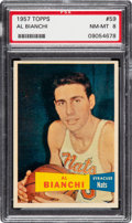 Basketball Cards:Singles (Pre-1970), 1957 Topps Al Bianchi #59 PSA NM-MT 8 - Only One Higher. ...