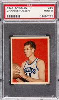 Basketball Cards:Singles (Pre-1970), 1948 Bowman Charles Halbert #43 PSA Mint 9 - Pop Three, NoneHigher....