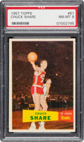 Basketball Cards:Singles (Pre-1970), 1957 Topps Chuck Share #61 PSA NM-MT 8 - Only One Higher. ...