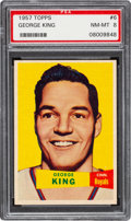Basketball Cards:Singles (Pre-1970), 1957 Topps George King # 6 PSA NM-MT 8 - Two Higher. ...