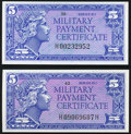 Military Payment Certificates:Series 611, Series 611 5¢ Gem New;. Series 611 5¢ Choice New.. ... (Total: 2 notes)