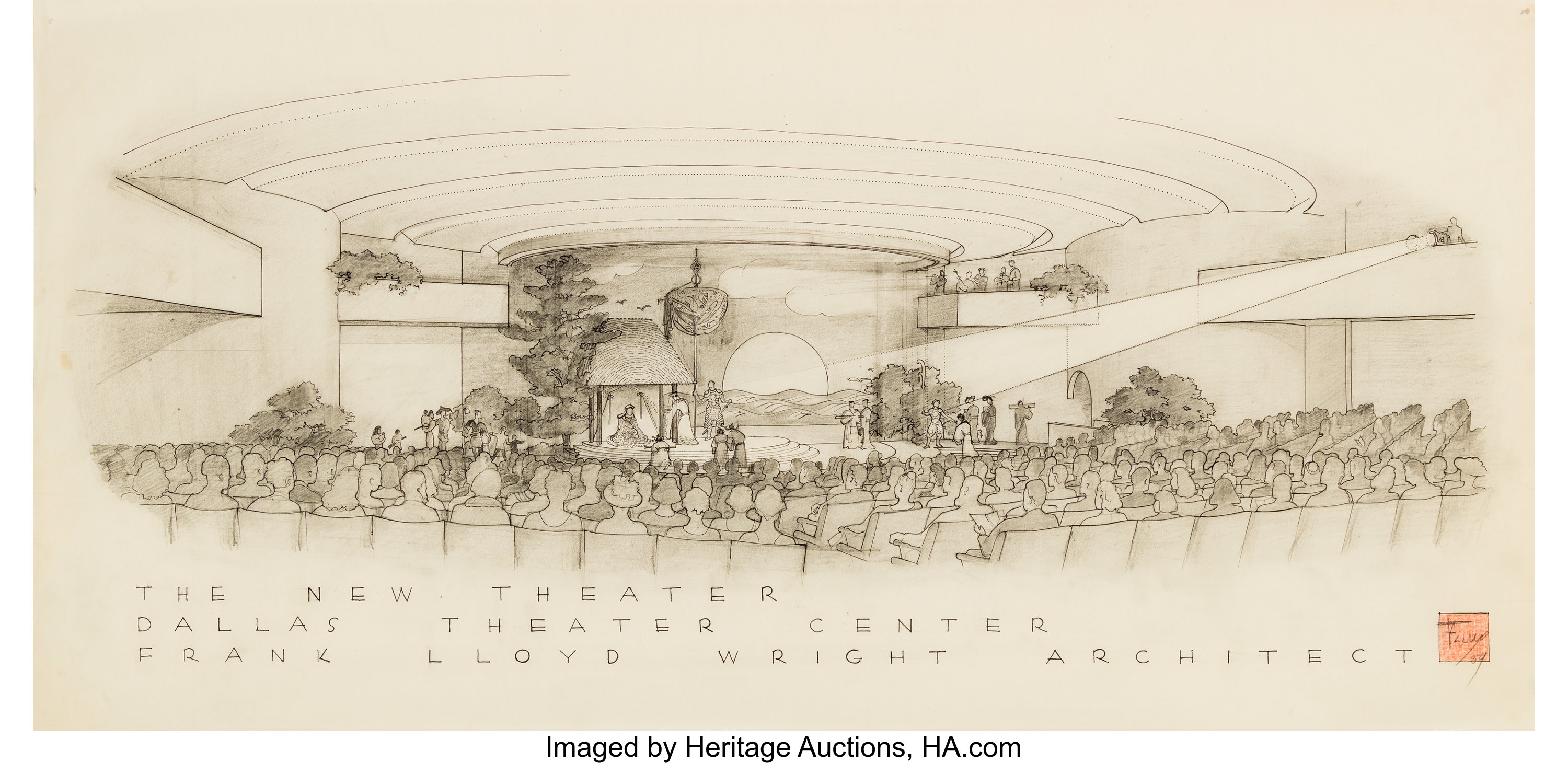 Frank lloyd wright american 1867 1959 presentation drawings of lot 67114 heritage auctions