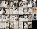 Autographs:Post Cards, Baseball Hall of Fame Signed Postcard Lot of 31....
