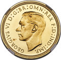 Great Britain, Great Britain: George VI gold 1/2 Sovereign 1937 PR64★ NGC,...