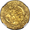Great Britain: Henry VIII (1509-1547) gold Angel ND AU50 NGC