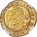 Great Britain: James I (1603-1625) gold 1/4 Laurel (1620-1621) MS62 NGC