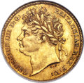 Great Britain, Great Britain: George IV gold 1/2 Sovereign 1824 MS62 NGC,...