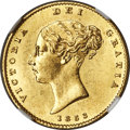 Great Britain, Great Britain: Victoria gold 1/2 Sovereign 1853 MS64 NGC,...