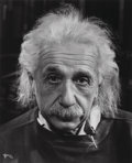 Photographs:Gelatin Silver, Philippe Halsman (American, 1906-1979). Professor Albert Einstein in his Study at Princeton, 1947. Gelatin silver, print...